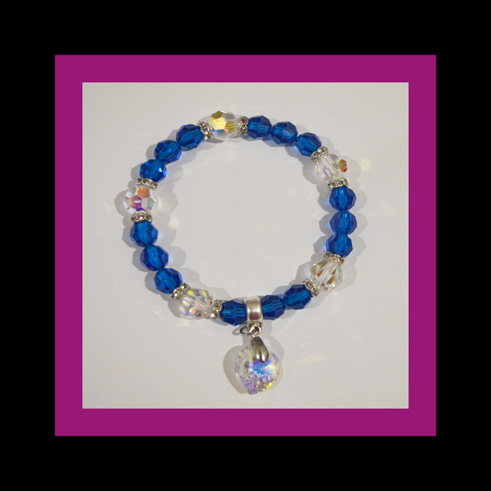 capri blue and white bracelet