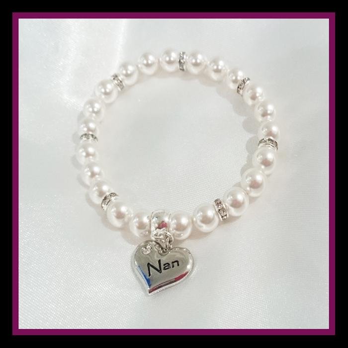 white pearl nan bracelet