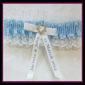 Personalised Bridal Garter