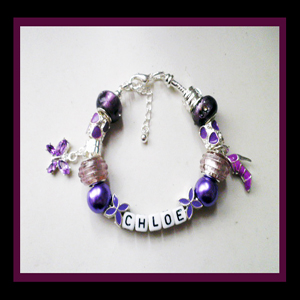 personalised name charm bracelets