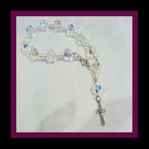 Rosary Crystal AB bracelet