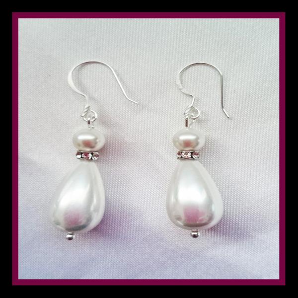Shell Pearl teardrop earrings