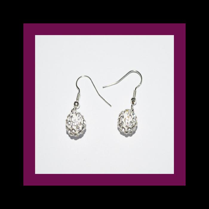 earrings rhinestone ball